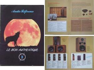 BROCHURE ENCEINTES AUDIO REFERENCE 1985