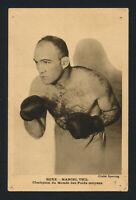 c1935 Sporting Magazine MARCEL THIL Premium Boxing Postcard Card Cliche Boxer
