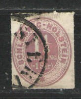 German States - Schleswig Holstein 1865 Sc# 5 Used VG - scarce used issue