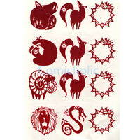 New The Seven Deadly Sins King Gowther Ban Meliodas Diane Cosplay Tattoo Sticker