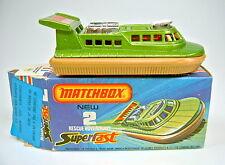 MATCHBOX SF N. 02c hovercraft limegrün/Marrone Chiaro Top in Franz. boxvariante