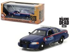 2001 FORD CROWN VICTORIA POLICE CAR THE WALKING DEAD 1/43 BY GREENLIGHT 86510
