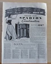 1942 magazine ad for Sparton Radios - Combination radio phonograph,Richest Voice
