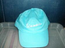 Vespa logo baseball style cap in sky blue white text