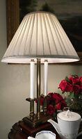 Vintage Rembrandt Brass & Wood Hollywood Regency Table Lamp