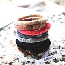 10pcs Girl Soft elastic hair accessories ties band rope ponytail bracelets