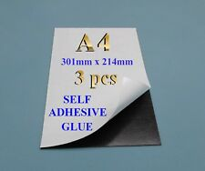 A4 3 + 1 Self adhesive flexible refrigerator magnet sheets - peel & stick