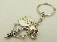 Keep Calm & Kill Zombies Key-ring / Bag Charm - Walking Dead / Daryl fan Gift,