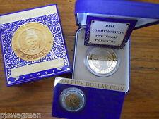 1994 2 COIN SET Enfranchisement  Anniversary $5 Proof & UNC Coins Scarce