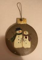 SNOWMAN metal ornament 3x 3.5 in  snowmen christmas winter decor plaque sign
