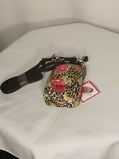 Purse Plus Touch Charm14 Cell Phone Case Leopard w/Pink Flowers