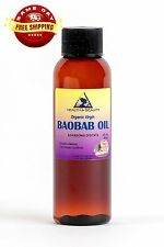 BAOBAB OIL UNREFINED ORGANIC by H&B Oils Center VIRGIN COLD PRESSED PURE 2 OZ