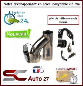 valve d'échappement , exhaust valve électrique diam 63 avec télécommande nouveau