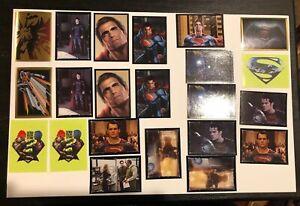 Panini World of Batman 22 Sticker Lot Featuring SUPERMAN / Loose