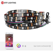 Bluetooth APP Control 5050 RGB 5V 60LEDs Strip Light Flexible TV Backlight Band