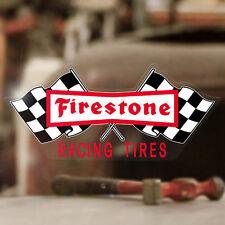 "Firestone racing tires sticker decal  hot rod rat vintage old school 6.25"""