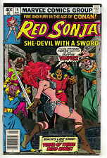 Red Sonja 15 1st Series Marvel 1979 VF Roy Thomas She-Devil With A Sword