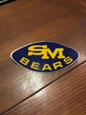 Rare Nos unused Sm Bears Football Sticker 1970s