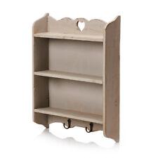 GREY Shabby Chic Shelf Unit Cabinet Storage Wall Mounted Rack Kitchen Home