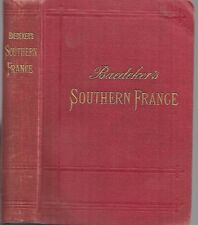Baedeker's Southern France. including Corsica. 5th ed. with 88 maps. 1907.