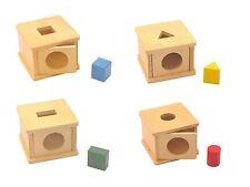 NEW Montessori Infant Toddler Material - Imbucare Boxes Set