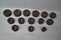 """VALVE SEAT GRINDING STONE SET 17 PC FOR sioux 11/16"""" THREAD"""