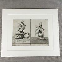 Picart Incisione Raro Antico Stampa 18th Secolo Originale Giapponese Divinità