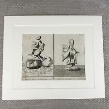 Rare 18th Century Engraving Picart Moubach Deity Idol Japanese Gods Immortals