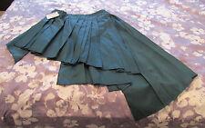 GFF Gianfranco Ferre emerald green pleated wrap style asymmetrical skirt  42 IT