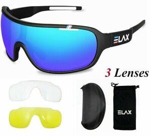 Cycling Glasses UV400 3Lense Outdoor Sport MTB Road Bike Bicycle Eyewear Goggles