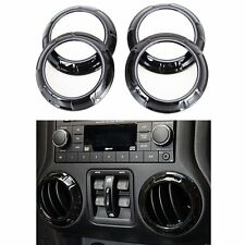 Black A/C Vent Outlet Ring Cover Frame Decorate Trim For Jeep Wrangler 11-2018JK