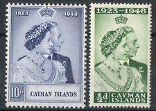 Cayman Islands 1948 KGVI Royal Silver Wedding set of 2  SG129-30 MM