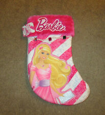 Barbie Christmas Stocking Pink & White14""