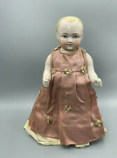"""Antique Porcelain Doll 11"""" tall in Dress from Estate"""
