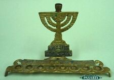 The Temple Brass Hanukkah Lamp Menorah, Israel 1950s