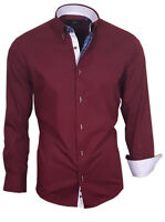 Hemd Herrenhemd Shirt Langarm Oberhemd Binder de Luxe dunkel Rot 82314