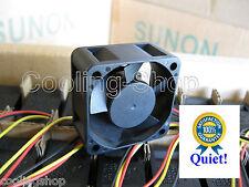 1x Quiet HP ProCurve 2848 Fan by SUNON 12 dBA noise vs 32dBA on your Stock Fan