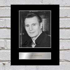 Liam Neeson Signed Mounted Photo Display