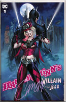 HARLEY QUINN'S VILLAIN OF THE YEAR #1C ~ SIGNED BY J. SCOTT CAMPBELL w/COA ~ DC