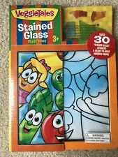 Veggie Tales Stained Glass Stickers Made Easy For Kids Craft Sealed NEW!