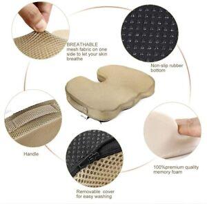 Seating Cushion Memory Foam - Ergonomic, Pressure Relief, Lower Back Posture - f