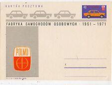 Polonia Automoviles Coches Entero Postal del año 1971 (DF-258)