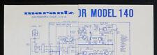 Marantz MODEL 140 Original POWER AMPLIFIER/AMPLIFICATEUR SCHEMATIC DIAGRAM o128