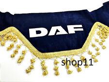 Daf Gardinen Frontscheibe Verzierung Scheibenborde Vorhänge Blau Gold