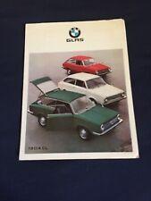 1960s BMW Glas 1304 CL  Color Brochure Catalog Prospekt