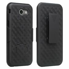 For Samsung Galaxy J3 Prime T-Mobile MetroPCS Shell Holster Black Comb