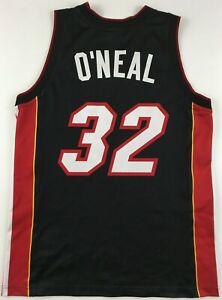 Miami Heat #32 Shaquille O'Neal basketball Champion black shirt jersey NBA M