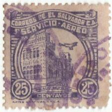 El Salvador 1934 air postage..25c violet...used stamp