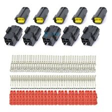 5 Set Vehicle 1.8mm Waterproof Wire Connector Plug AWG 2 Pin Way Terminal E-TING