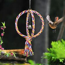 Parrot Rope Swing Bird Cage Toys Pet Cockatiel Parakeet Budgie Climbing Circle